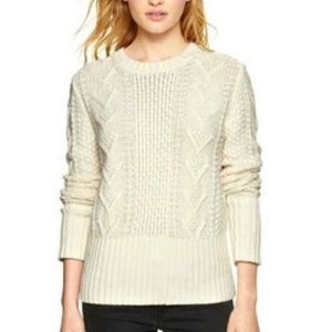 Gap Designed & Crafted Wool Cable Knit Sweater